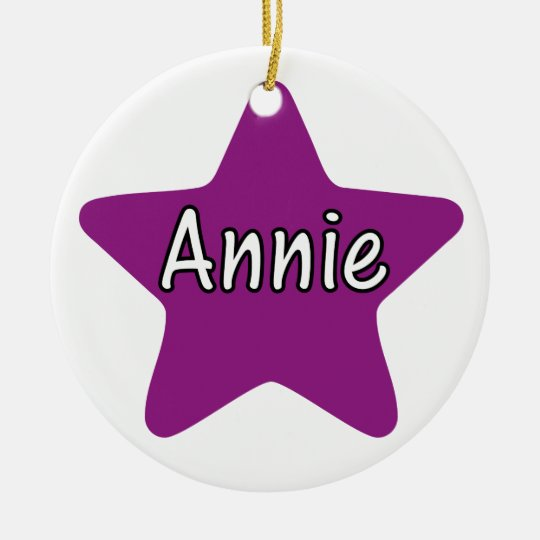 Annie Star Ceramic Ornament