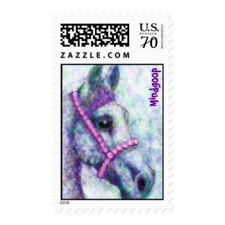 Annie subió sellos del caballo