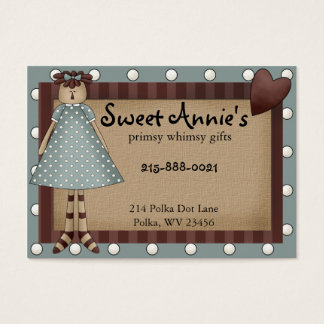 Annie Whimsy Primsy Country Business Card