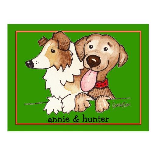 Annie y cazador tarjetas postales