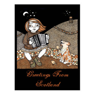 Annies Accordian Postcard