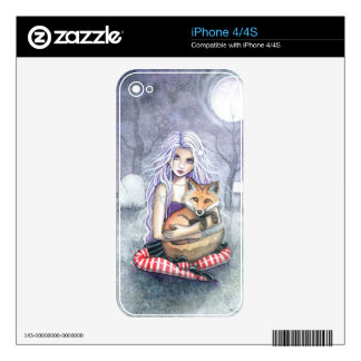 Annie's Fox Fantasy Gothic Art iPhone 4 Skins