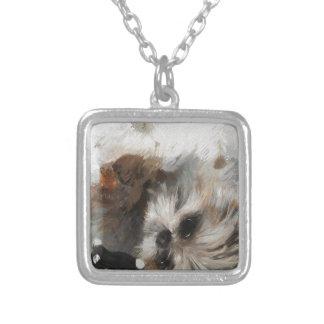 Annies silken weavessml silver plated necklace