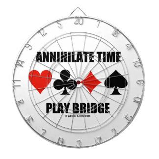 Annihilate Time Play Bridge (Four Card Suits) Dartboard With Darts