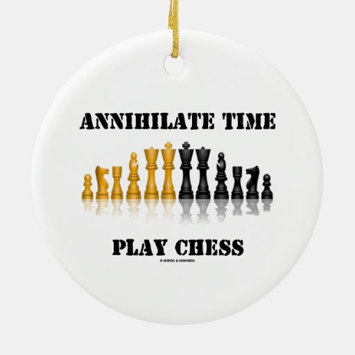 Annihilate Time Play Chess (Reflective Chess Set) Christmas Tree Ornaments