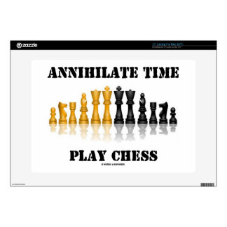 """Annihilate Time Play Chess (Reflective Chess Set) Skins For 15"""" Laptops"""