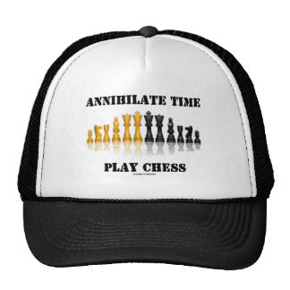 Annihilate Time Play Chess (Reflective Chess Set) Trucker Hat