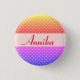 Annika name plate Anstecker Button