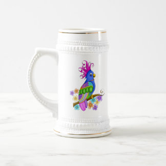 Annika Tropical Bird Ceramic Stein