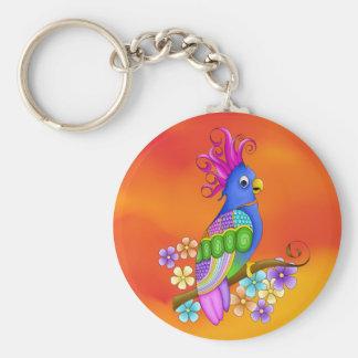 Annika Tropical Bird Keychain