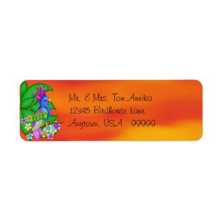 Annika Tropical Bird Return Address Labels