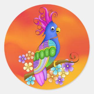 Annika Tropical Bird Stickers