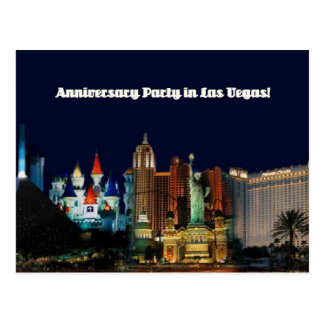 Anninversary Party in Las Vegas Postcard