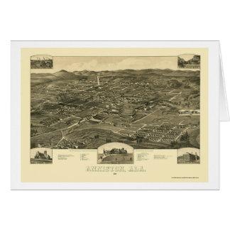 Anniston, AL Panoramic Map - 1887 Greeting Card