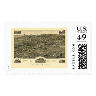Anniston, AL Panoramic Map - 1887 Stamp