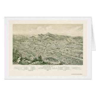 Anniston, AL Panoramic Map - 1888 Greeting Card