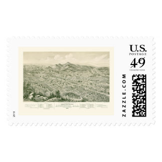 Anniston, AL Panoramic Map - 1888 Postage