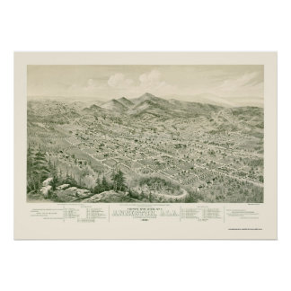 Anniston, AL Panoramic Map - 1888 Posters