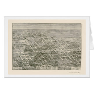 Anniston, AL Panoramic Map - 1903 Greeting Cards