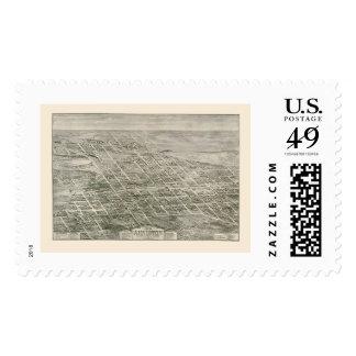 Anniston, AL Panoramic Map - 1903 Postage Stamp