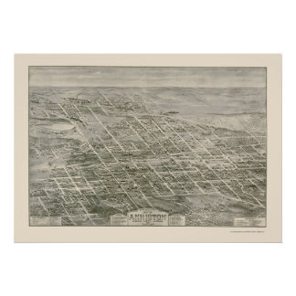 Anniston, AL Panoramic Map - 1903 Poster