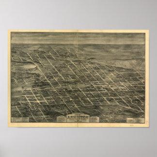 Anniston Alabama 1903 Panoramic Map Poster