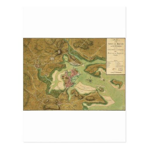 Anniv of Paul Revere's Ride. Boston in 1776.jpg Postcards