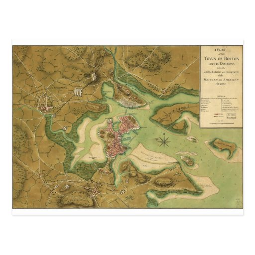 Anniv of Paul Revere's Ride. Boston in 1776 Post Card