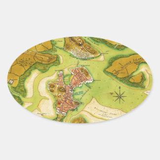 Anniv of Paul Revere's Ride Oval Stickers