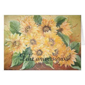 anniversário del feliz tarjeta de felicitación