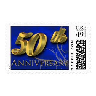 Anniversary 50th Golden Wedding Postage Stamp