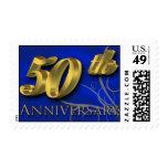 Anniversary 50th Golden Wedding Stamp