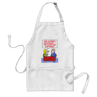 anniversary adventure continues adult apron