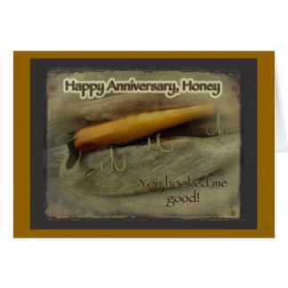 Anniversary Atom A40 Vintage Fishing Lure Card