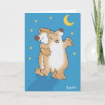 "Anniversary Bears Card<br><div class=""desc"">Two bears dance happily in the moonlight. Fred and Ginger are impressed.</div>"