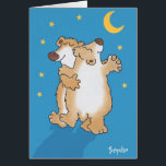 """Anniversary Bears Card<br><div class=""""desc"""">Two bears dance happily in the moonlight. Fred and Ginger are impressed.</div>"""