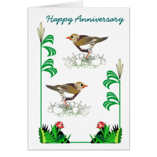 Anniversary Birds 26 Greeting Cards