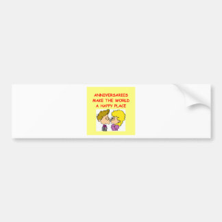 anniversary bumper sticker
