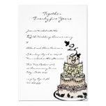 Anniversary Cake 5x7 Paper Invitation Card