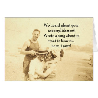 anniversary card 12 step recovery - vintage photo