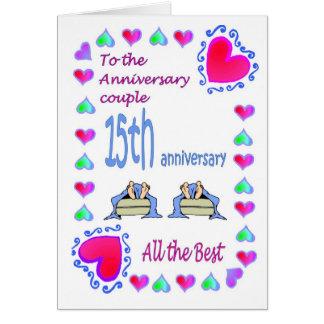 Anniversary card - 15th feet
