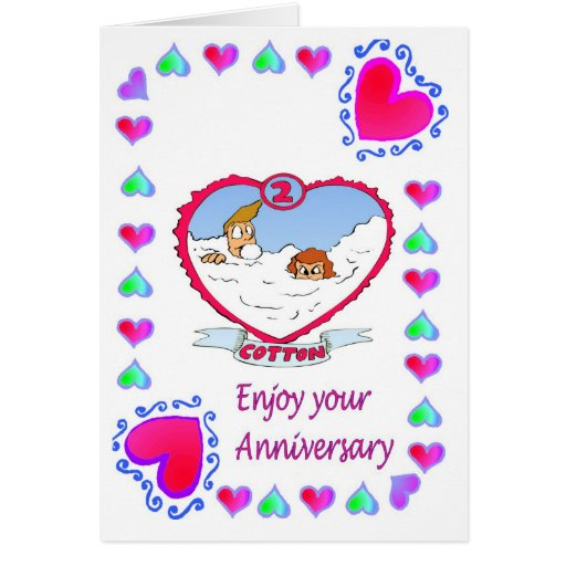Anniversary card nd cotton zazzle