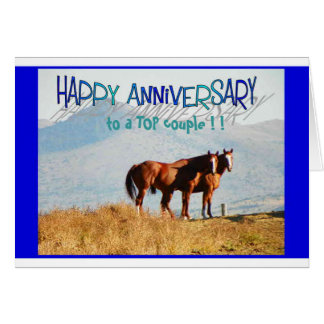 Anniversary Card - A Top Couple