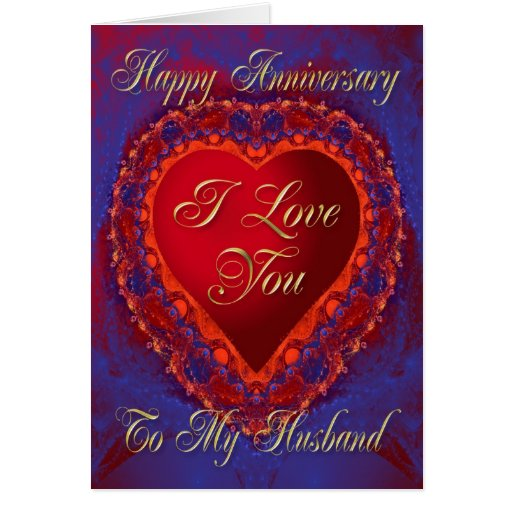Anniversary card for husband zazzle
