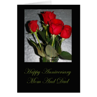Anniversary Card For Mom And Dad