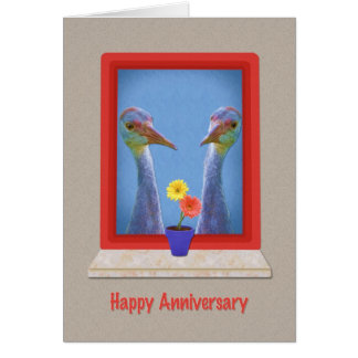 Anniversary Card,Two Young Sandhill Cranes Card
