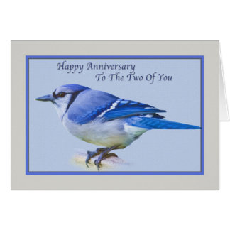 Anniversary Card with Blue Jay Bird