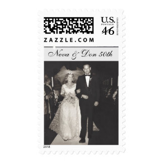 Anniversary celebration postage stamps customized