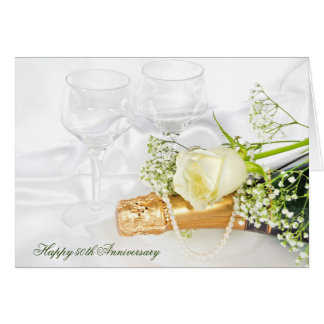 anniversary-champagne and rose card