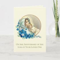 Anniversary Death Loved One Catholic Virgin Mary Card